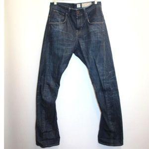 All Saints Men's boot cut distressed jeans SZ 28